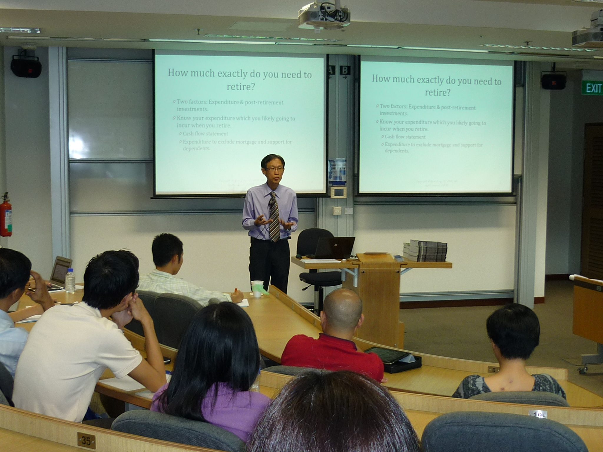 Wilfred Ling giving a lecture