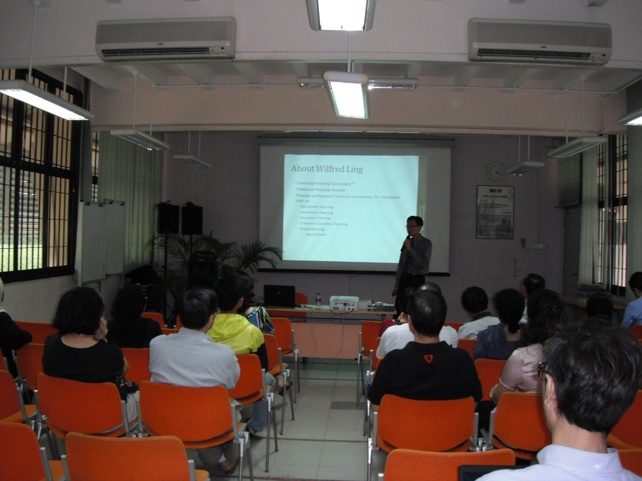 Wilfred Ling giving a talk
