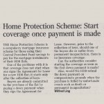 ST forum: Home Protection Scheme – Start coverage once payment is made