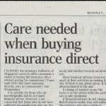 ST forum: Care needed when buying insurance direct