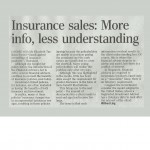 ST forum:  Insurance sales: More info, less understanding
