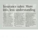insurance sales: more info less understanding
