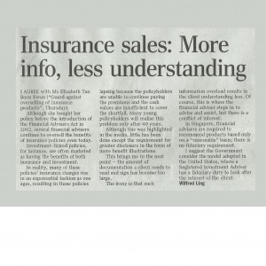insurance sales: more info less understanding