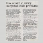 ST forum:  Care needed in raising Integrated Shield premiums