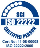 ISO 22222:2005 certified