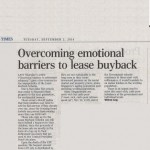 ST forum: Overcoming emotional barriers to lease buyback
