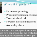 Techniques to predict future investment returns (e-Learning)